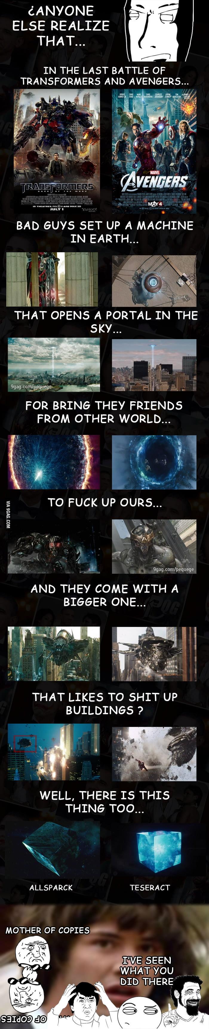 Transformers VS Avengers