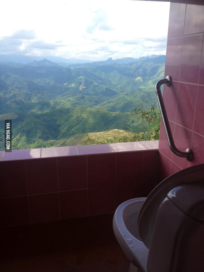 You have a good view when you poo (Thailand)