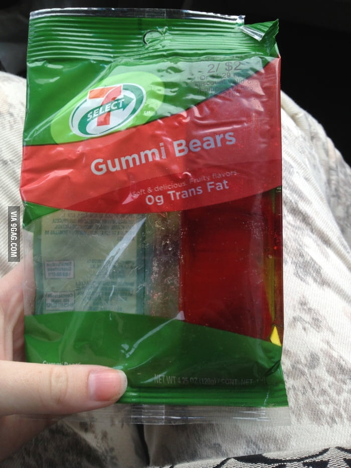 When you leave a bag of gummy bears in the car over the summ