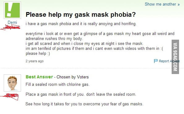 How to overcome gas mask phobia