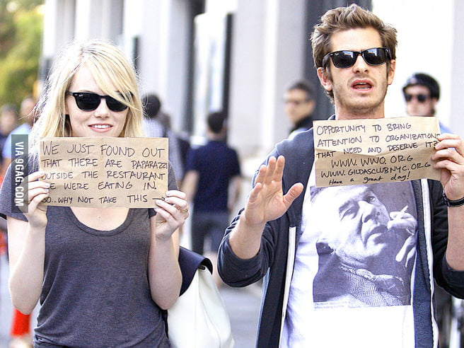 I love this couple, Emma Stone & Andrew Garfield.