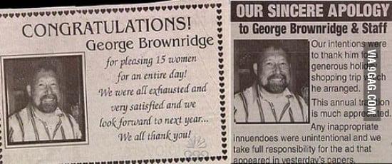 George Brownridge is our new hero.