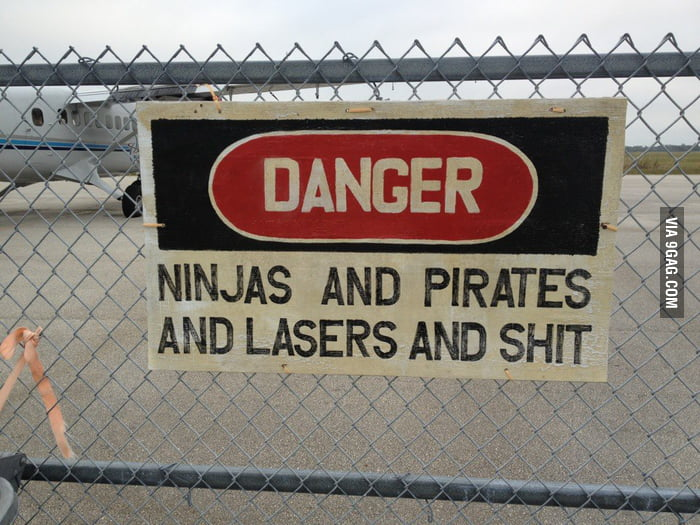 Danger: Ninjas and Pirates and Lasers and Shit