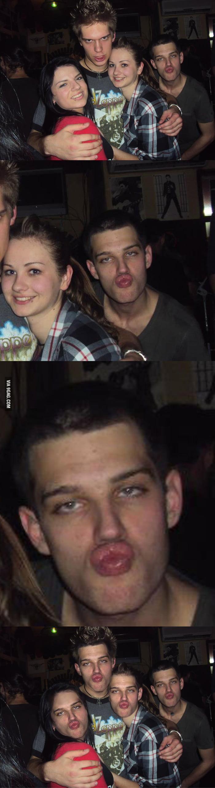 Face swap lvl: drunk photobombing