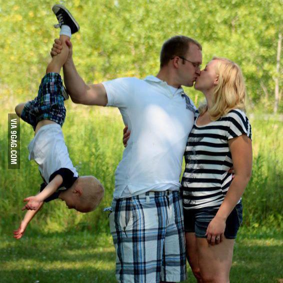 A vivid family photo.
