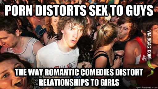 Watching a chick flick with my girlfriend and realized this.