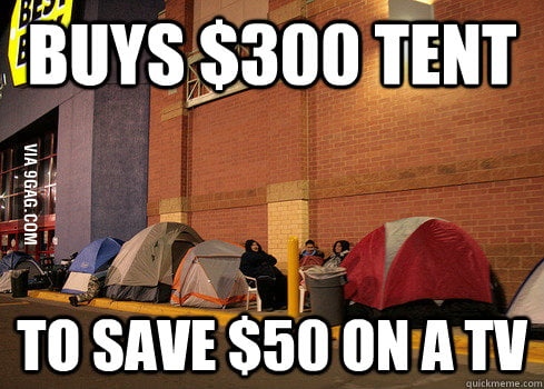 Black Friday Shoppers will do anything for a deal.