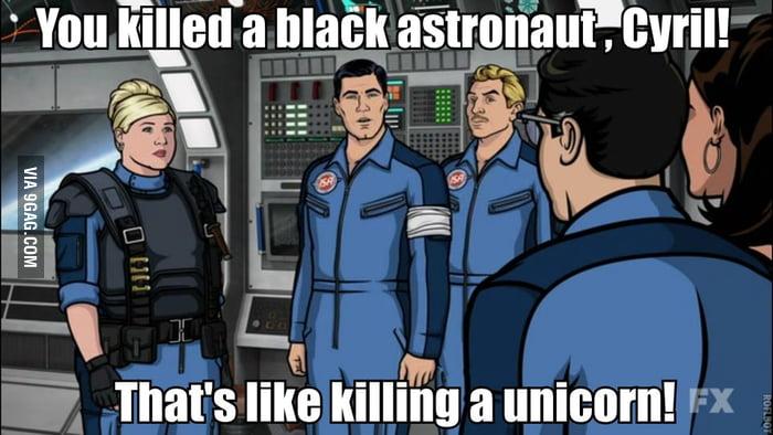A black astronaut.