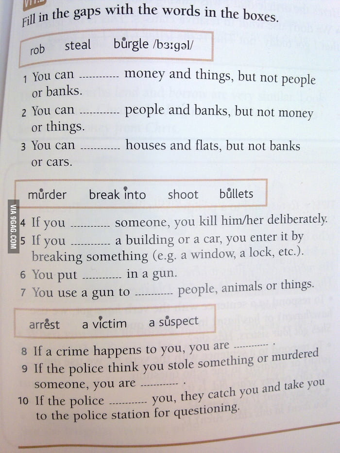 My English workbook became a Criminal´s Guide For Beginners
