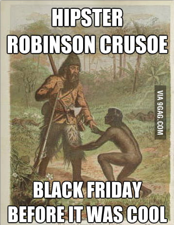 Just Hipster Robinson Crusoe...