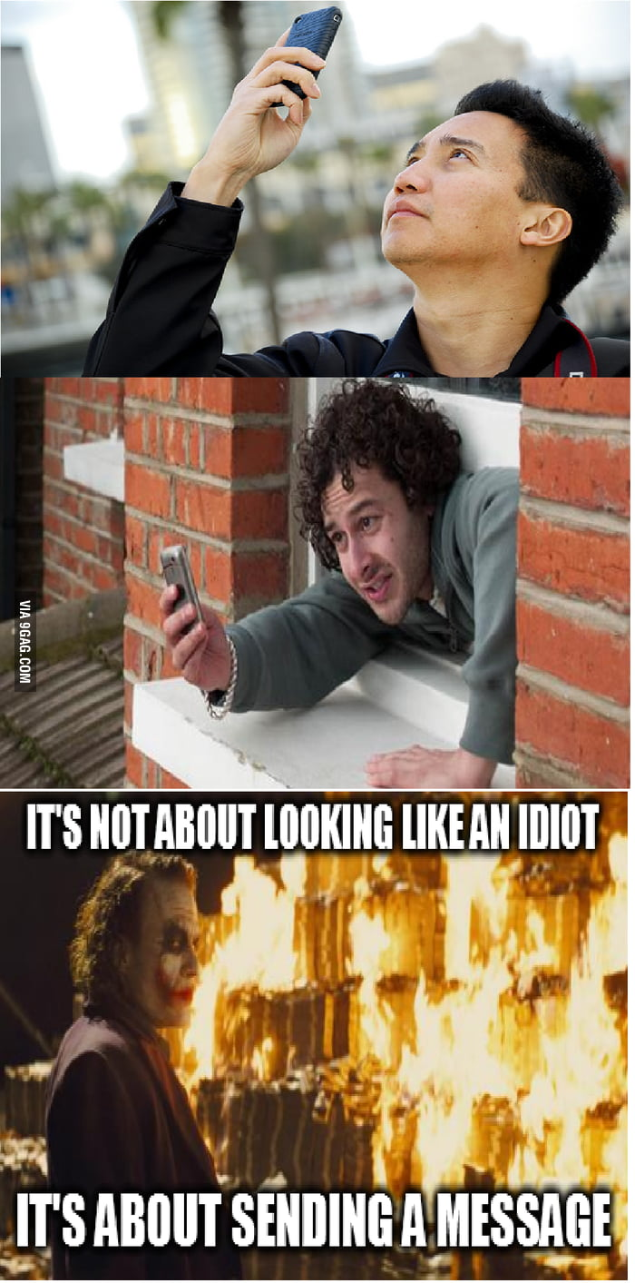 It's not about looking like an idiot