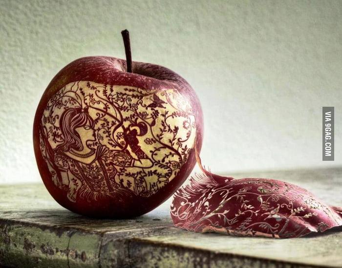Amazing apple art