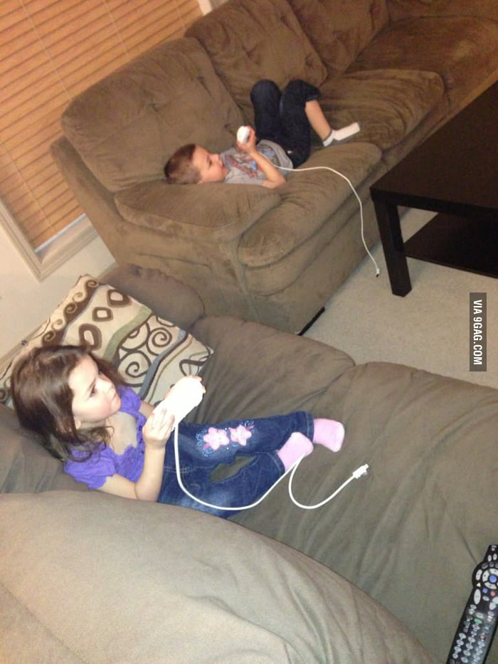 "The kids wanna play video games so I let them ""play""."