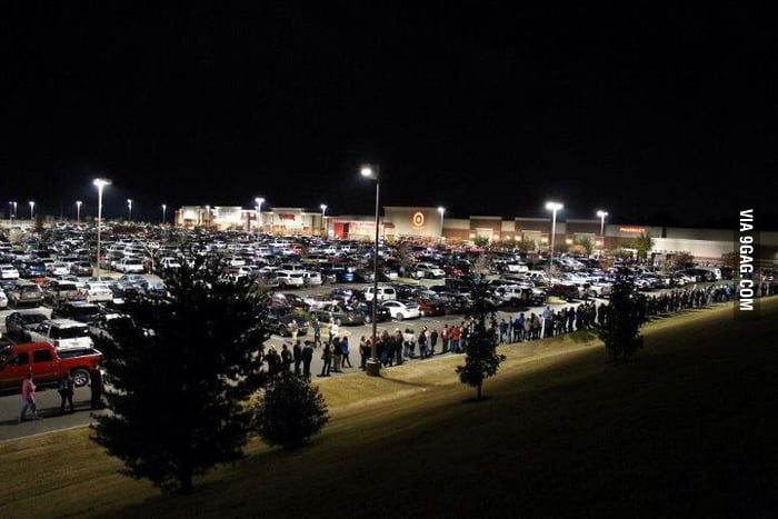 Target, 10pm, Black Friday night.