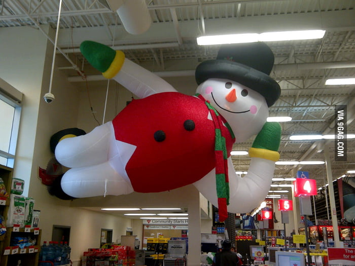 Paint me like one of your giant inflatable French snowmen.