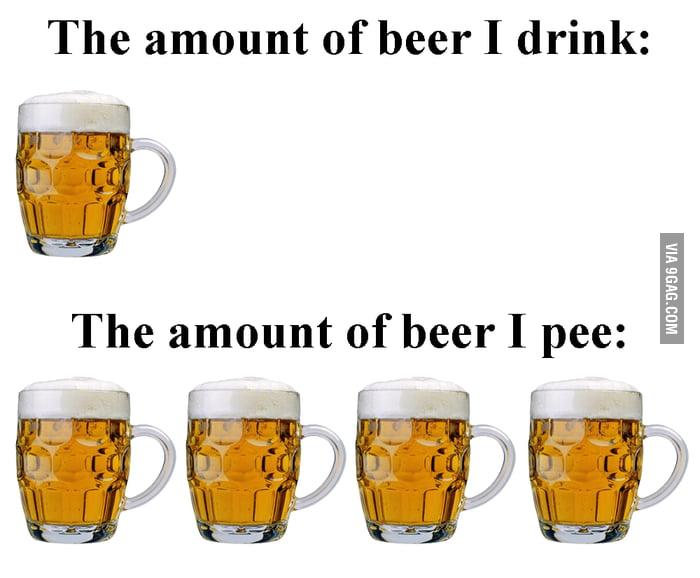 Everytime I drink beer