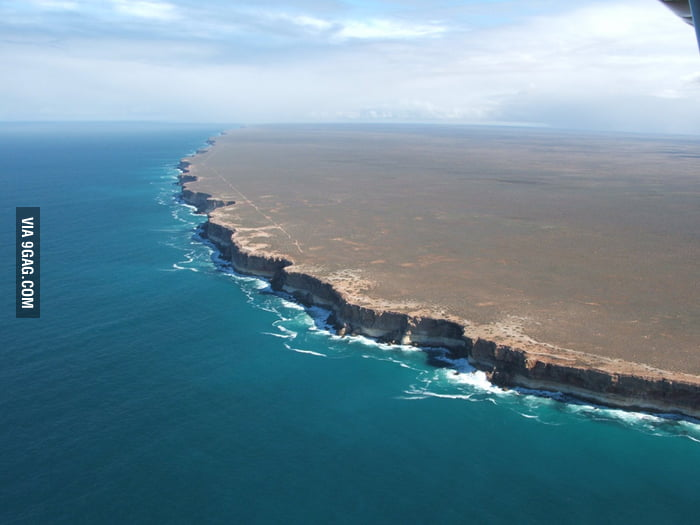 The end of the world - Nullarbor Cliffs, Australia.