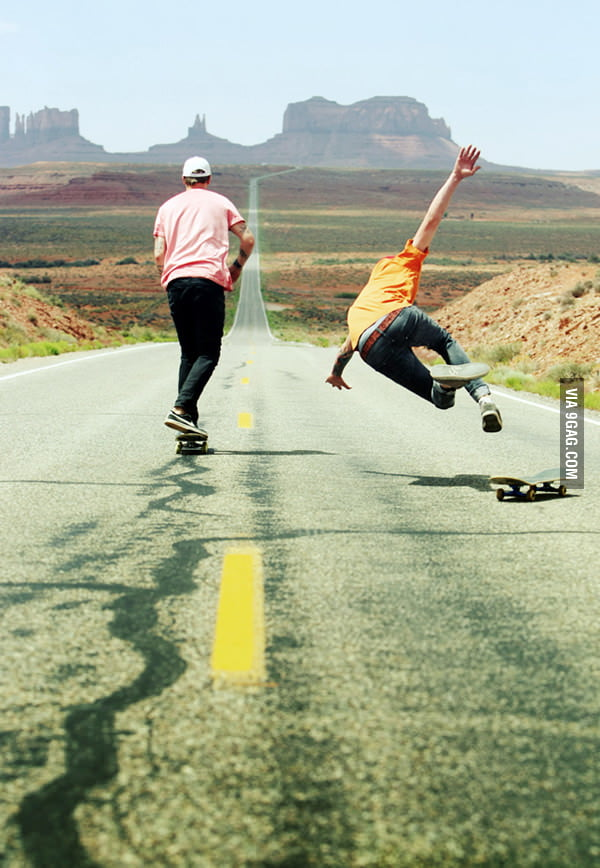There's nothing worse than eating concrete off a skateboard.