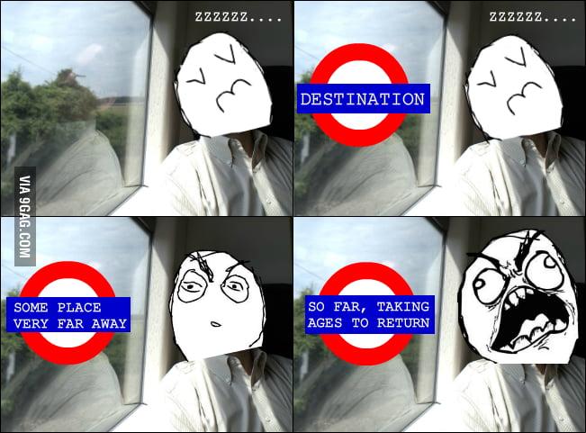 You should never sleep on public transport.