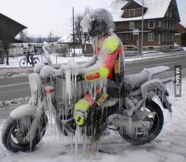 So, I heard you can ride a bike any weather.