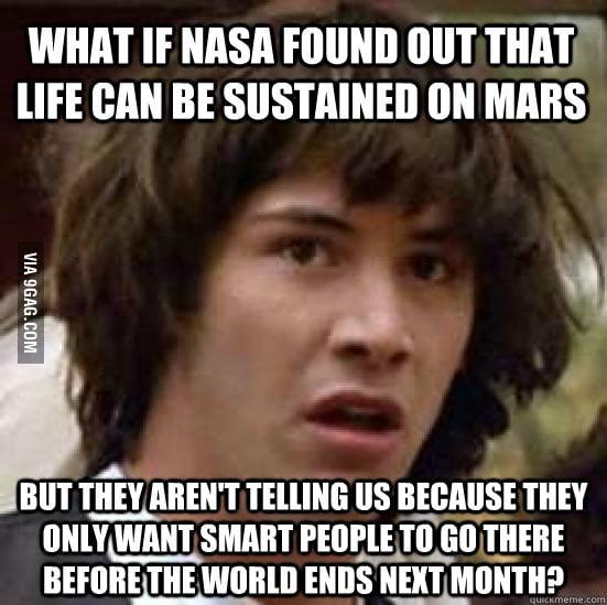 That's why NASA has been keeping us waiting.