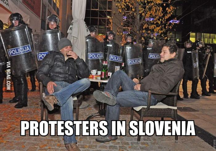 Hardcore protesters