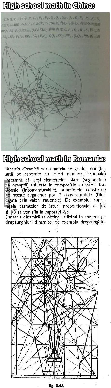 I'll raise you High school math in Romania.