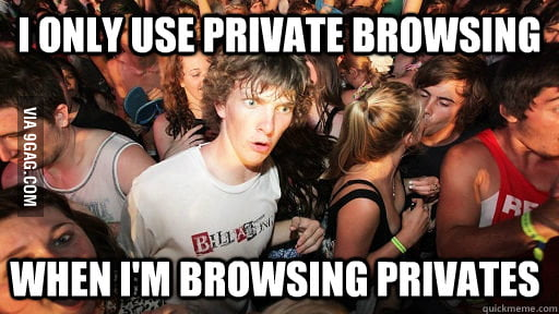 Open Window in Private Browsing