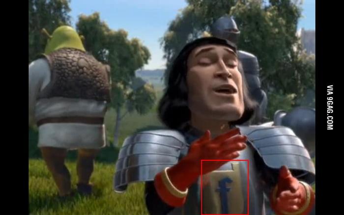 Lord Farquaad from Shrek has a Facebook armor