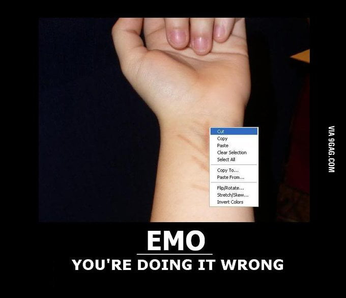 Emo: You're doing it wrong!