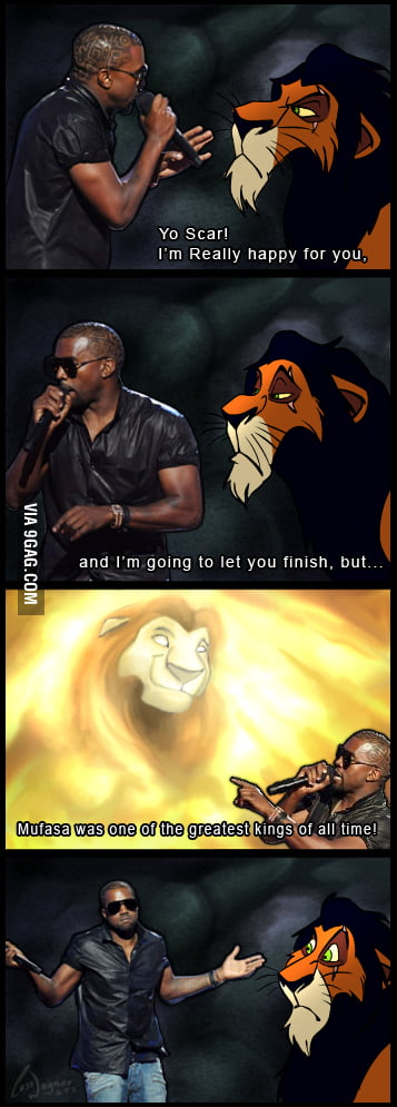 Kanye west strikes again and  interrupts scar