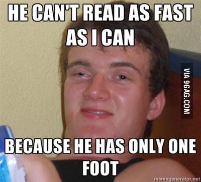 My English teacher said this today
