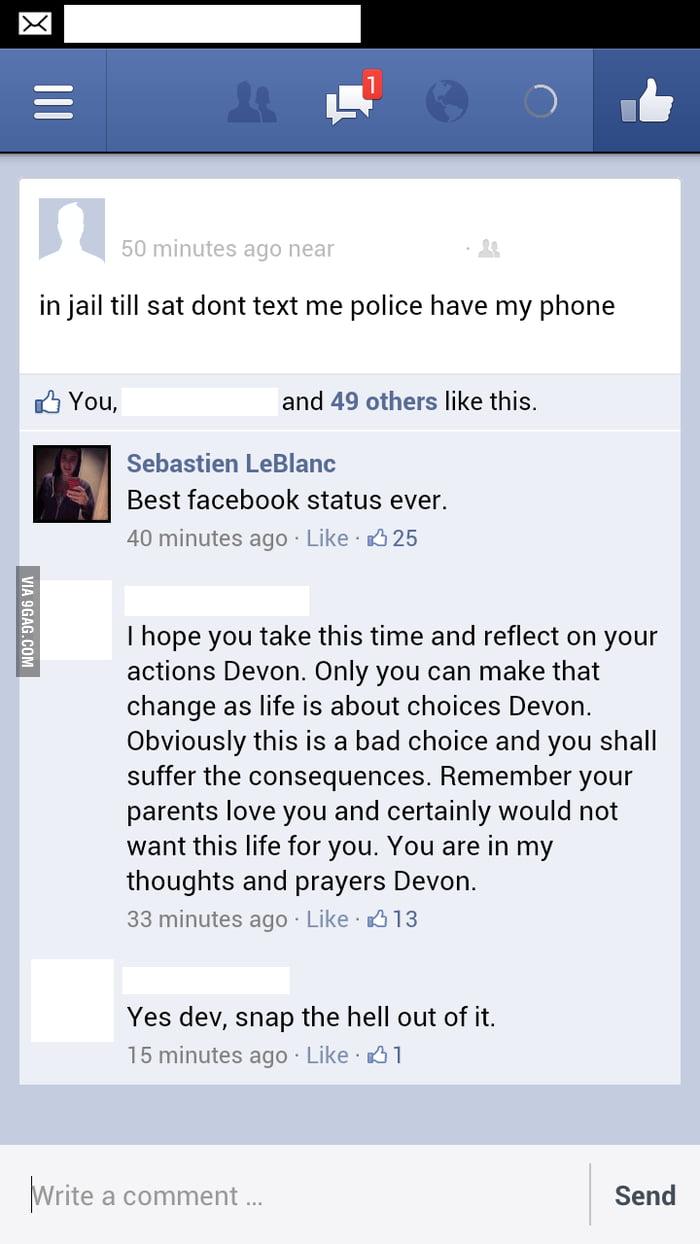 Best Facebook Status Ever.