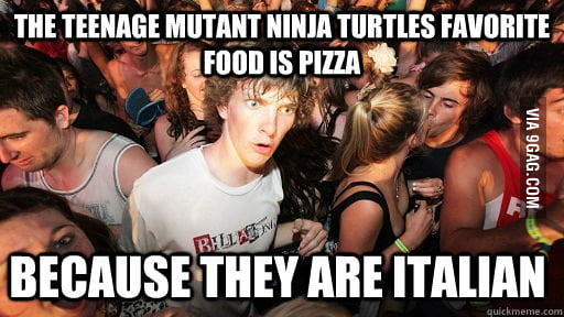 Just realised this about TMNT. I feel a little slow.