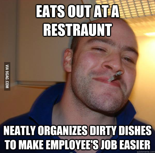 As a waitress, I love people who do this.