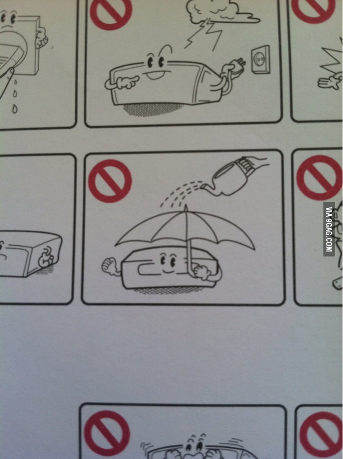 Don't water your blu-ray player though it has an umbrella.