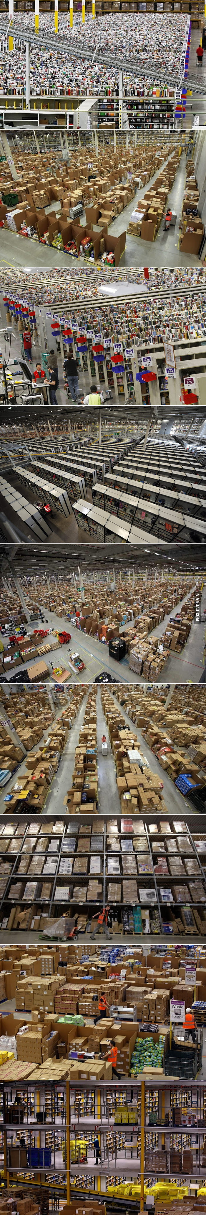 What it looks like inside Amazon.