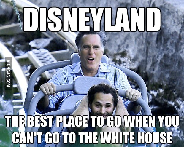 Disneyland is the best substitute for the White House.
