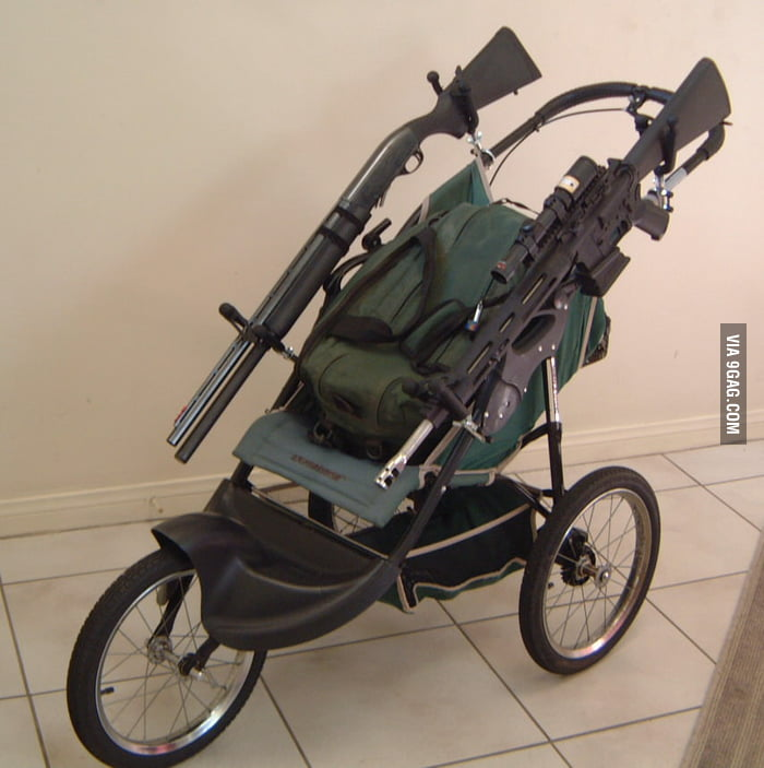 This Tactical Baby Stroller will be useful in Zombie Apocaly