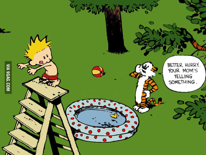 One of my favorite Calvin and Hobbes comics.