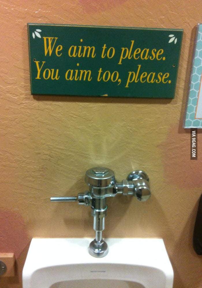 We aim to please. You aim too, please.