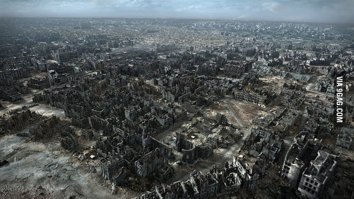 Warsaw in 1945.