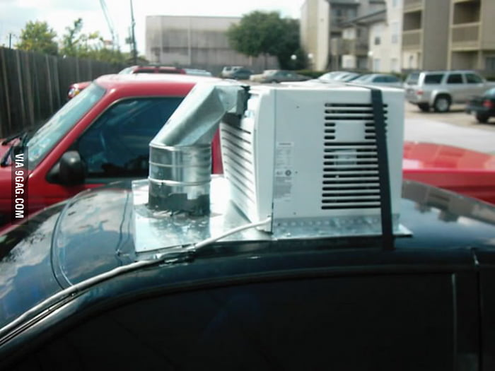 Adding air-conditioning to your car, DIY style.