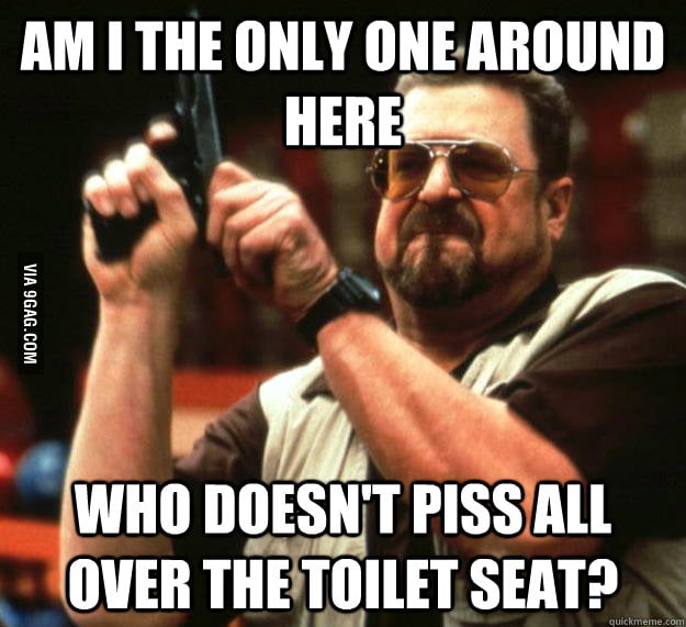 As a guy, how I feel when I use the bathroom in college.