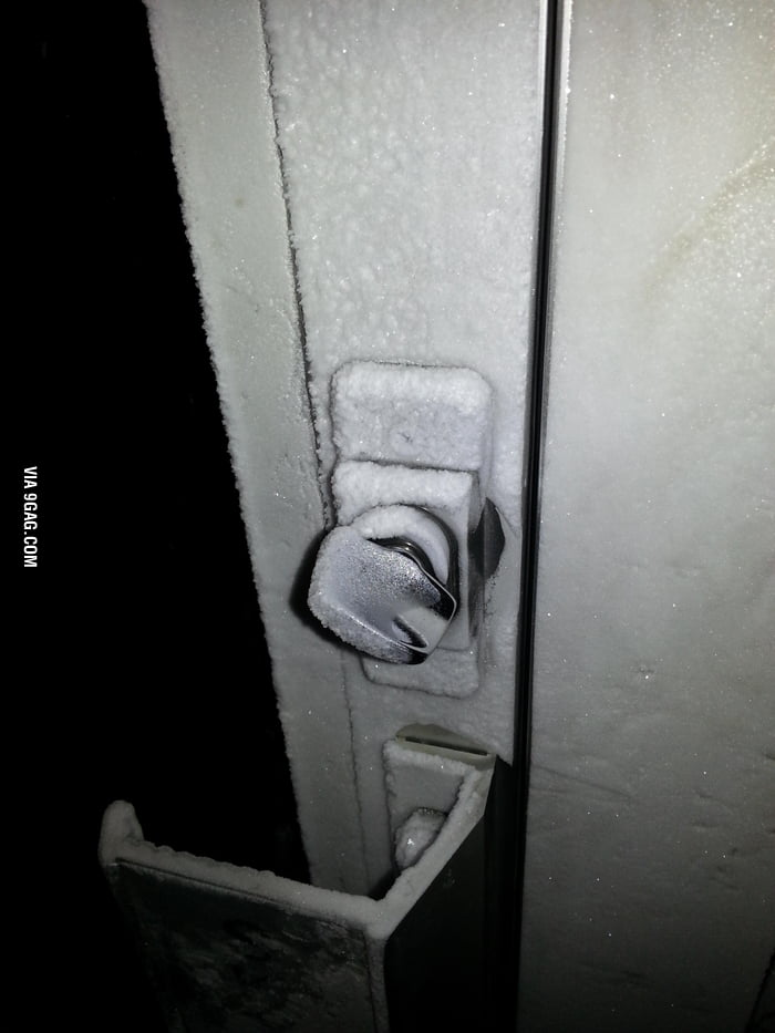 A friend from Norway showed me the inside lock of his door.