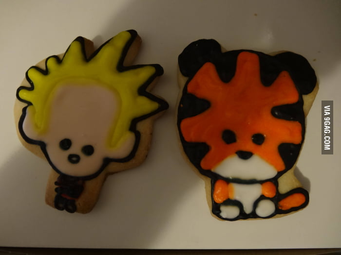 My local bakery makes Calvin & Hobbes cookies.