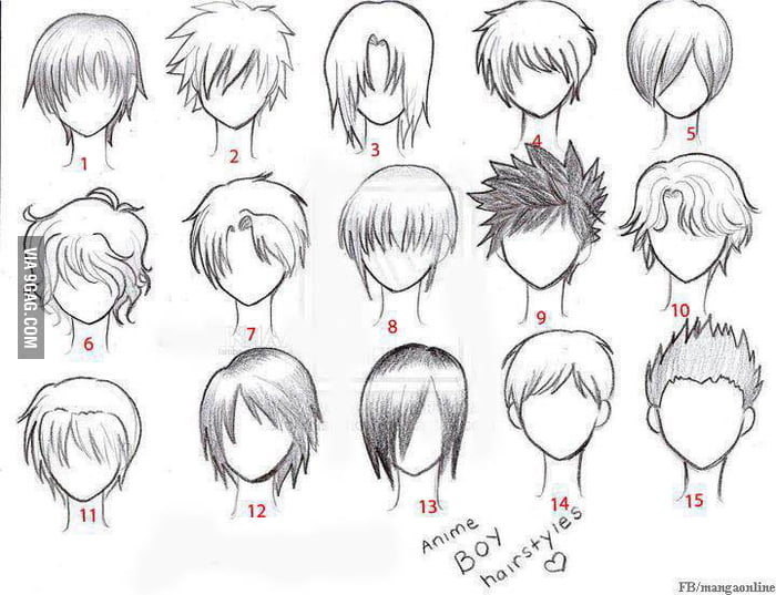 Common Anime Guy Hairstyle