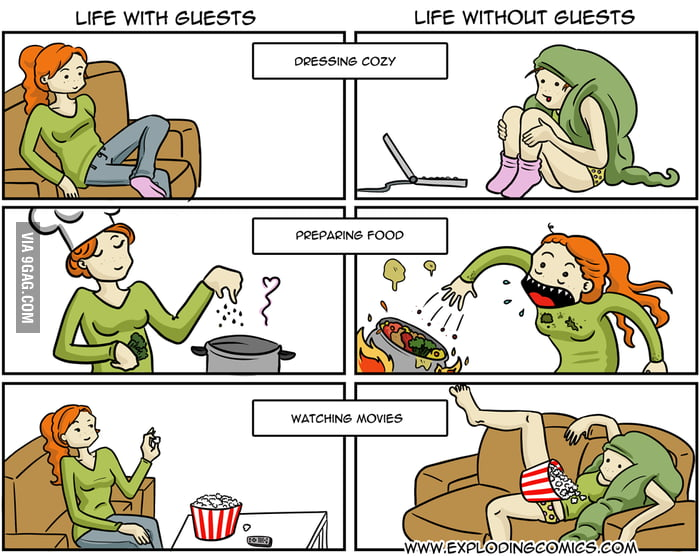 Life With Guests x Life Without Guests