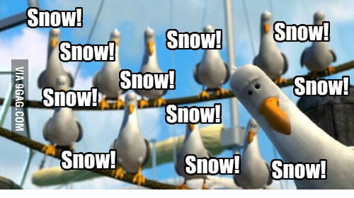 Facebook posts when there is snow in town