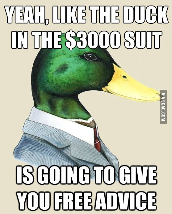 Financial advice from the 1% duck